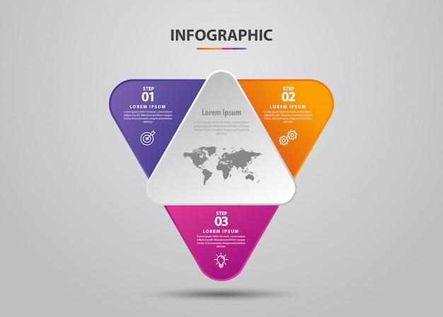 ビジネスのインフォグラフィック。ミニマルでフラットなデザイン。ビジネス統計