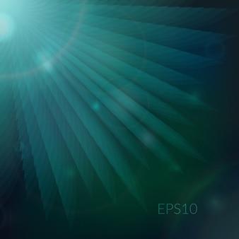 光線と抽象的な技術の背景