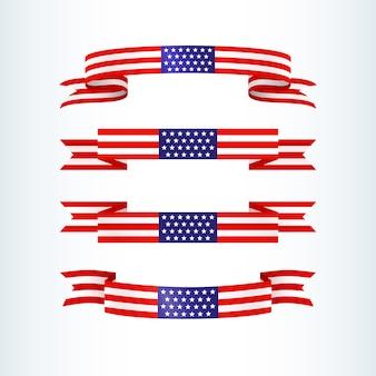 アメリカ国旗リボン星条旗愛国心が強いアメリカのテーマ米国旗