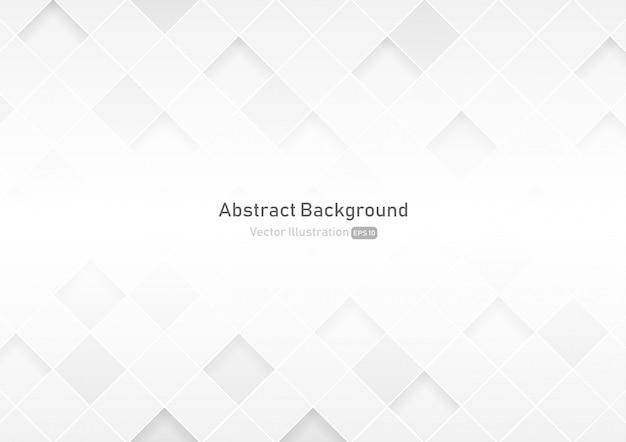 抽象的な正方形の白とグレーの色の背景