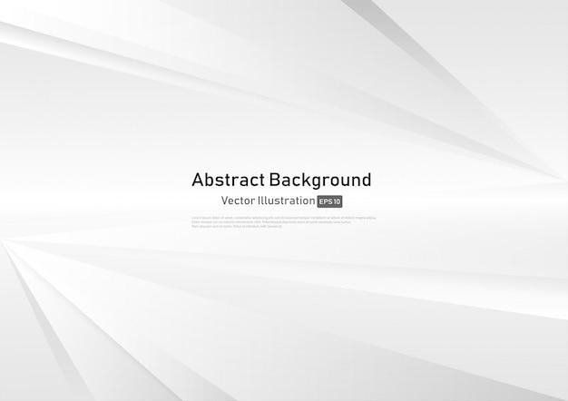 白とグレーの抽象的なグラデーションの背景。