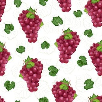 ブドウの束のシームレスパターン