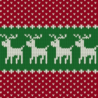 クリスマスのシームレスなニットパターン
