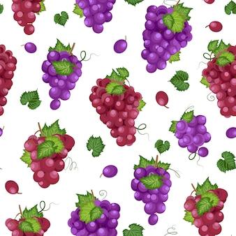 Виноградная гроздь бесшовный фон