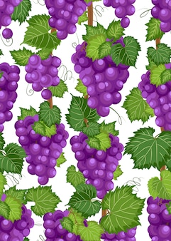 Виноградная лоза бесшовный фон