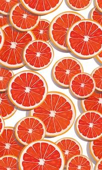 シームレスパターンスライスオレンジフルーツ