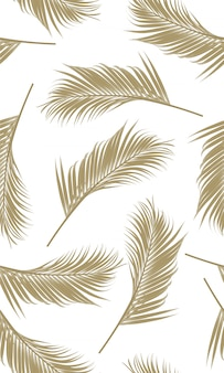 Бесшовный узор из пальмовых листьев