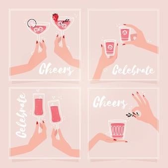 Женские праздничные открытки