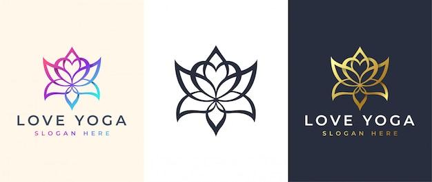ラインアートロータスロゴデザイン