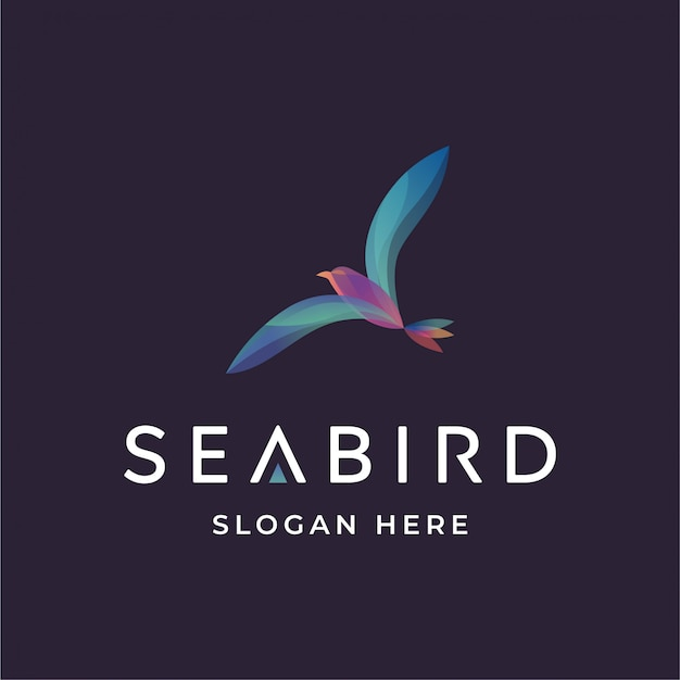 Логотип морской птицы