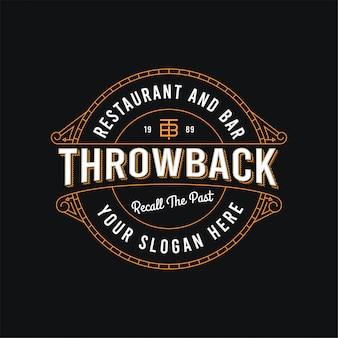 Возвратный редактируемый значок ресторана и бара