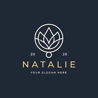 蓮の花のロゴデザイン