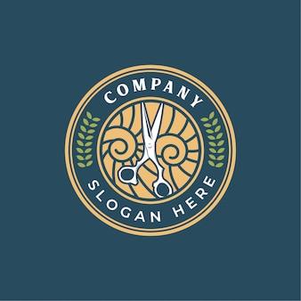 Шаблон логотипа для парикмахерских
