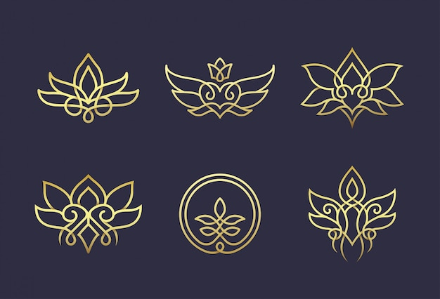 Штриховой рисунок цветочный дизайн логотипа