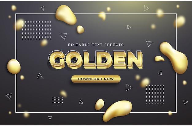 Золотые текстовые эффекты графические стили