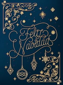 要素を持つクリスマスの線形の背景