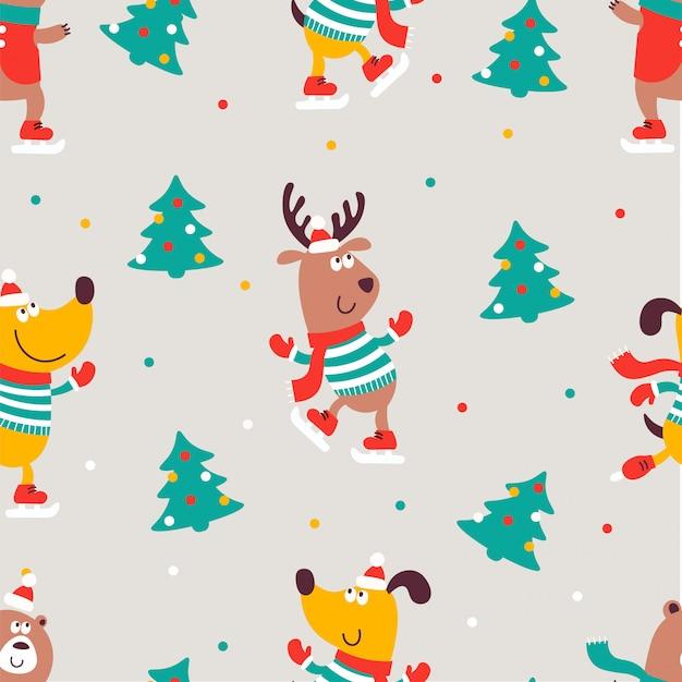 クリスマスのシームレスな印刷