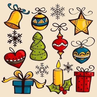 手描きのクリスマス飾り