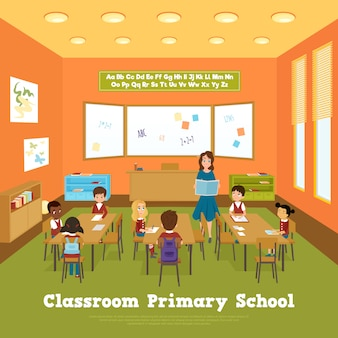 Шаблон классной комнаты начальной школы
