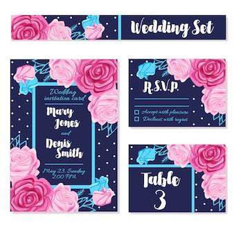 結婚式の日招待状を保存するカード