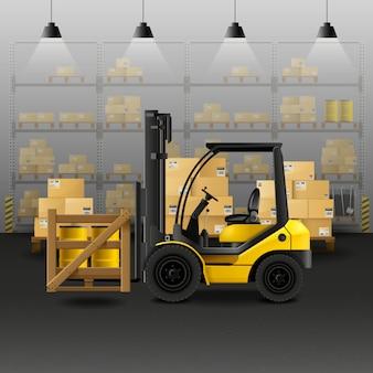 倉庫の現実的な構成