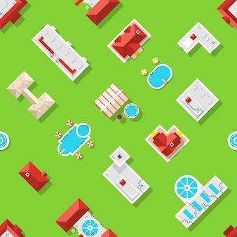 都市要素のシームレスパターン