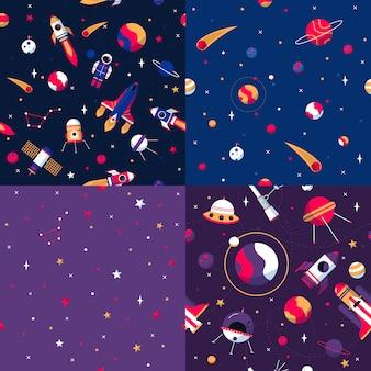 Космический бесшовные модели