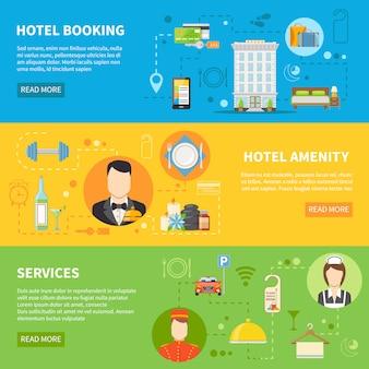 Набор баннеров гостиничного сервиса