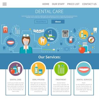 歯科治療のページデザイン