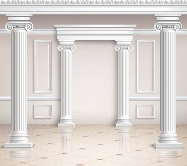Классический дизайн холла
