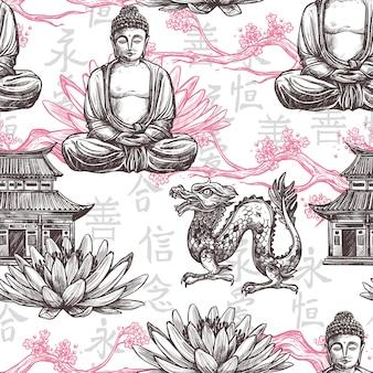 アジアのシームレスパターン