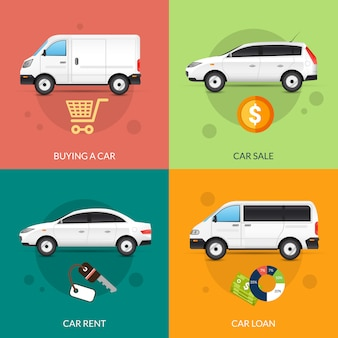 賃貸料と販売のための車