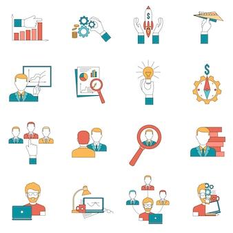 Набор бизнес иконок