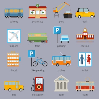 都市要素のコレクション
