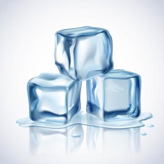 Голубые кубики льда