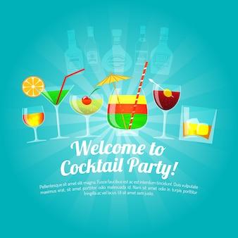 Алкоголь плоская иллюстрация