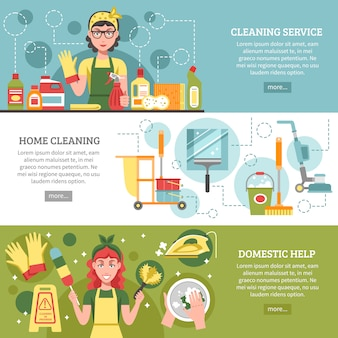 清掃サービスバナーセット