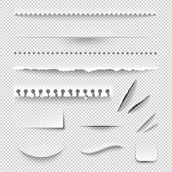Разорванный набор бумаги