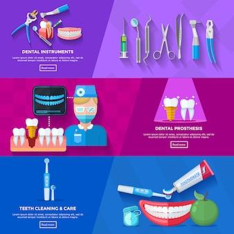 Плоский баннер стоматолог