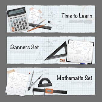 数学科学バナーセット