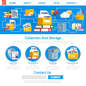 Дизайн страницы архива
