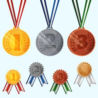 幻想的なメダルのコレクション