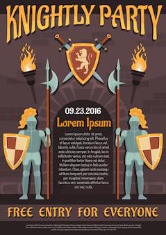 Плакат геральдического рыцаря