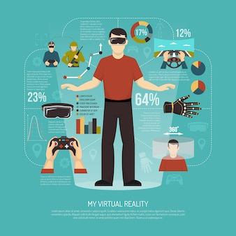 Виртуальная реальность векторная иллюстрация