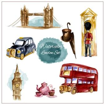 Акварельный лондонский набор