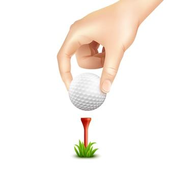 ゴルフボールのリアルな背景