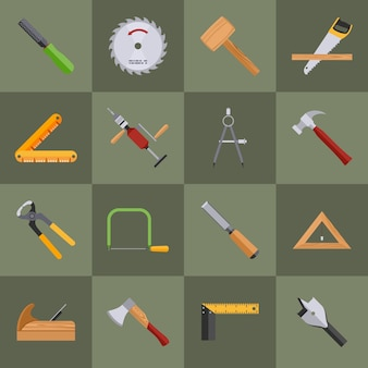 Упаковка из столярные инструменты