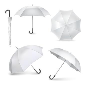 Установить реалистичные открытые закрытые иконки зонтик