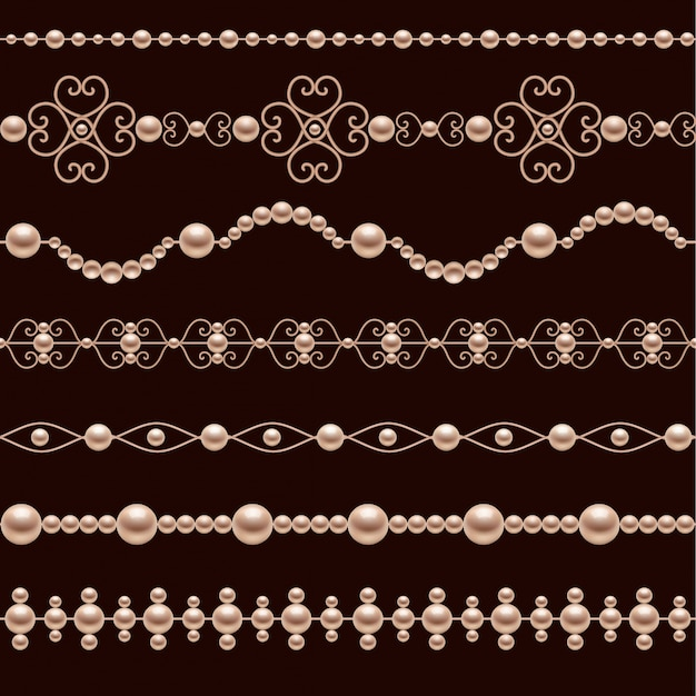 Коллекция реалистичных браслеты