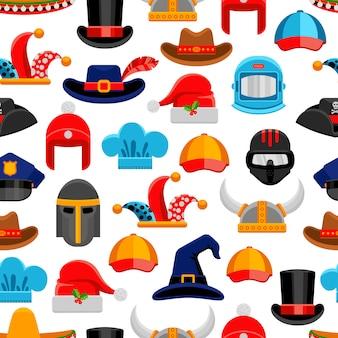 帽子のシームレスパターン